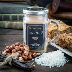 Deez Nutz -10 Ounce Jar Candle- 80 Hour Burn Time